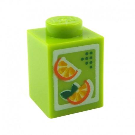 Orange Juice Brick 1 x 1