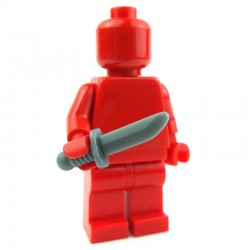 Dark Bluish Gray Minifig, Weapon Knife