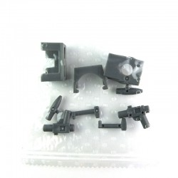 Lego Accessoires Minifig - Pack SW : Pauldron, Kama, Antennes, Visière, Blasters (Dark Bluish Gray) (La Petite Brique)