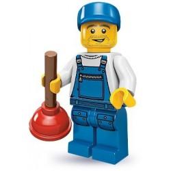 LEGO Minifigures Serie 9 - le plombier - 71000 (La Petite Brique, le spécialiste de la minfig)