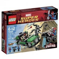 Lego SUPER HEROES 76004 - Spider-Man : La poursuite en moto-araignée (La Petite Brique)