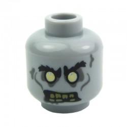 Lego Accessoires Minifig - Tête Zombie (Light Bluish Gray) La Petite Brique