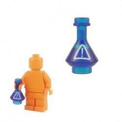 Lego Custom BrickForge Fiole Warning (bleu foncé transparent) La Petite Brique