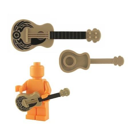 Lego Custom BrickForge Guitare accoustique (beige foncé) (black American Legend) La Petite Brique