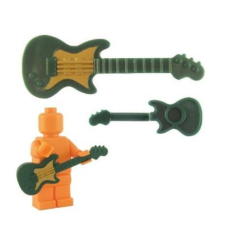 Lego Custom BrickForge Guitare électrique (vert foncé) La Petite Brique