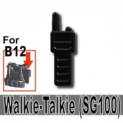 Lego Custom Si-Dan Toys Talkie-Walkie (SG100) (noir) (La Petite Brique)