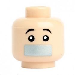Lego Custom Minifig Citizen Brick Tête Bouche Scotchée (chair) (La Petite Brique)