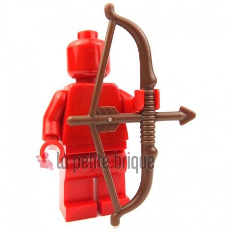 Lego Accessoires Minifig - Grand arc et flèche (Reddish Brown) La Petite Brique
