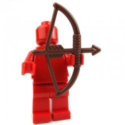 Lego Accessoires Minifig - arc et flèche (Reddish Brown) La Petite Brique