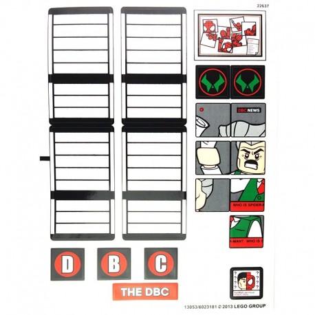 Lego Autocollant Spider-Man Daily Bugle (La Petite Brique)