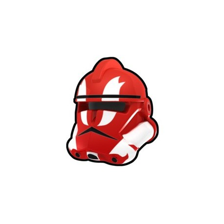 Lego Minifig Custom AREALIGHT Casque Red Commander GH (La Petite Brique) Star Wars