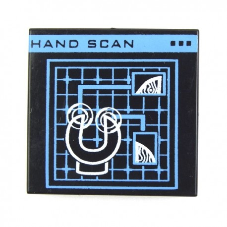 Lego Custom Minifig eclipseGRAFX Level 2 Security System - Hand Scan (Tile) (La Petite Brique)