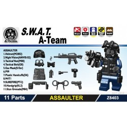 S.W.A.T. A-Team (ASSAULTER) Pack (11 parts) (Black)