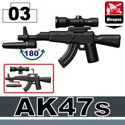 AK47s + Bayonet (A3) + Scope (P3) (Black)