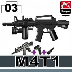 M4T1 + Surefire (PT-2) + Handgrip (KL2) (Black)
