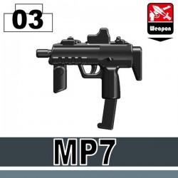 Lego Custom Si-Dan Toys MP7 (noir) (La Petite Brique)