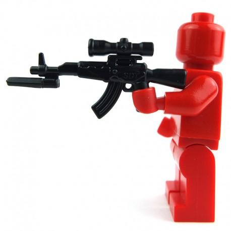 Lego Custom Si-Dan Toys AK47s + Bayonet (A3) + Scope (P3) (noir) (La Petite Brique)