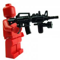 Lego Custom Si-Dan Toys M4T1 + Surefire (PT-2) + Handgrip (KL2) (noir) (La Petite Brique)