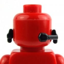 Lego Custom Si-Dan Toys Headset-JS2 (noir) (La Petite Brique)