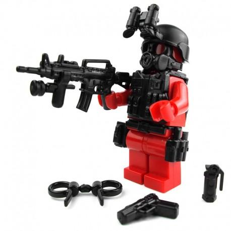 Lego Custom Si-Dan Toys S.W.A.T. A-Team (ASSAULTER) Pack (11 pièces) (noir) (La Petite Brique)
