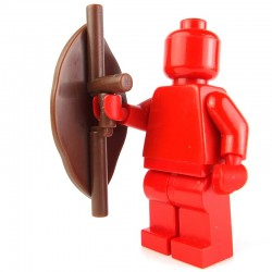 Lego Custom BRICK WARRIORS Bouclier Tribal (marron) La Petite Brique