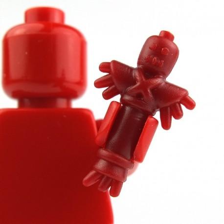 Lego Custom BRICK WARRIORS Poupée Vaudou (Rouge foncée) La Petite Brique