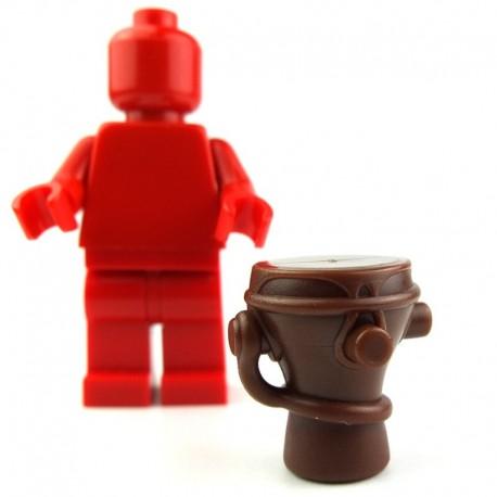 Lego Custom BRICK WARRIORS Tambour Tribal (marron) La Petite Brique