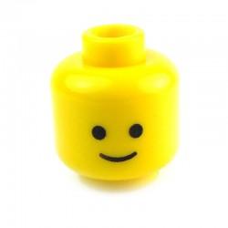 Lego Accessoires Minifig Tête jaune, standard (La Petite Brique)