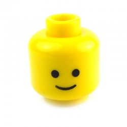 Yellow Minifig, Head Standard Grin Pattern