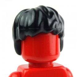 Black Minifig, Headgear Hair Short, Tousled