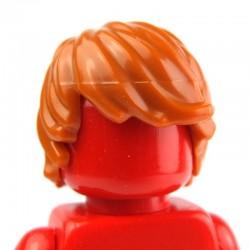 Lego Accessoires Minifig - Cheveux ébouriffés (Dark Orange) (La Petite Brique)