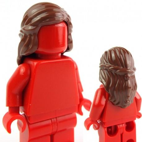 Lego Accessoires Minifig - Cheveux mi-long avec tresse (Reddish Brown) (La Petite Brique)