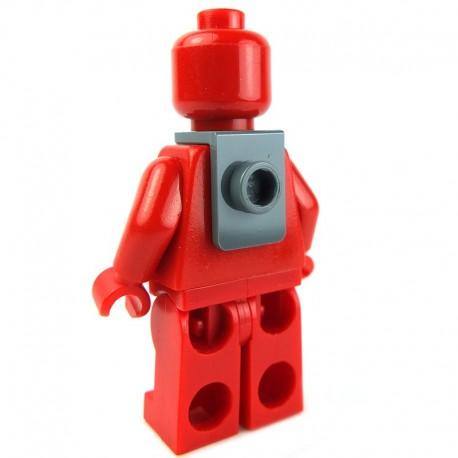 Lego Accessoires Minifig - Support de cou avec montant à l'arrière (Dark Bluish Gray) (La Petite Brique)
