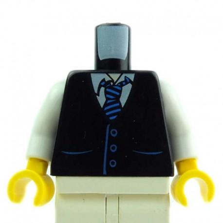 Lego Accessoires Minifig - Torse - Gilet noir et cravate (La Petite Brique)