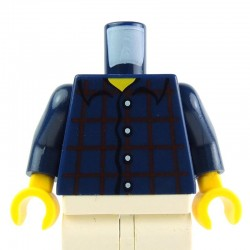 Dark Blue Torso Plaid Button Shirt, Dark Blue Arms, Yellow Hands