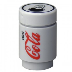 """Lego Minifig Accessoires """"custom BRICKS"""" Canette de Soda, Diet Coke (La Petite Brique)"""