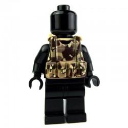 Lego Custom Si-Dan Toys Tactical Vest B12 (Desert camouflage) (La Petite Brique)