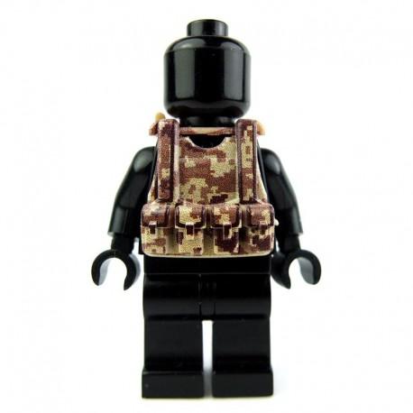 Lego Custom Si-Dan Toys Tactical Vest B12 (Desert digital camouflage) (La Petite Brique)