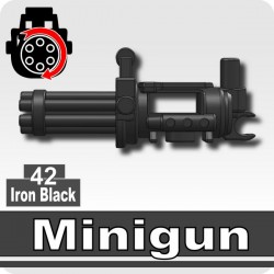 Lego Si-Dan Toys Minigun + Trépied (mitrailleuse) (Iron Black) (La Petite Brique)