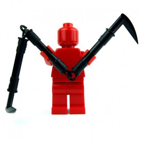 Lego Si-Dan Toys Ninja Sickle - kaMa Lankezkan (noir) (La Petite Brique)