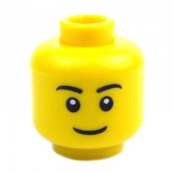 Yellow Minifig, Head Male, 22