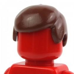 Reddish Brown Minifig, Headgear Hair Male 01