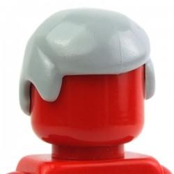 Lego Minifig Accessoires Cheveux masculin 02 (Light Bluish Gray) (La Petite Brique)
