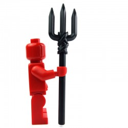 Lego Custom Accessoires Minifig BRICK WARRIORS Trident (noir) (La Petite Brique)