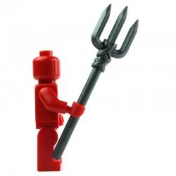 Lego Custom Accessoires Minifig BRICK WARRIORS Trident (steel) (La Petite Brique)