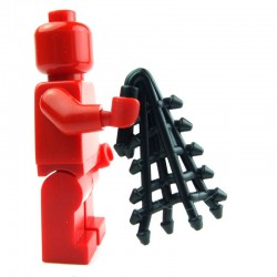 Lego Custom Accessoires Minifig BRICK WARRIORS Filet de Retiarius (noir) (La Petite Brique)