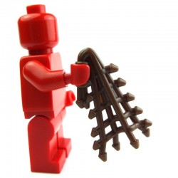 Lego Custom Accessoires Minifig BRICK WARRIORS Filet de Retiarius (marron) (La Petite Brique)