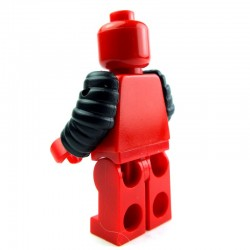 Lego Custom Accessoires Minifig BRICK WARRIORS Arm Guards (noir) (La Petite Brique)