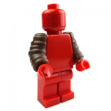 Lego Custom Accessoires Minifig BRICK WARRIORS Arm Guards (marron) (La Petite Brique)