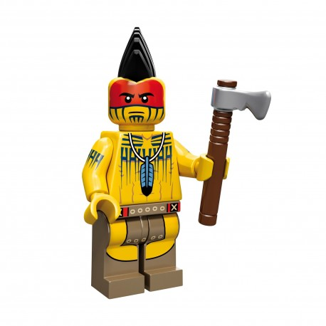 Lego Minifig Serie 10 le guerrier Tomahawk (La Petite Brique)